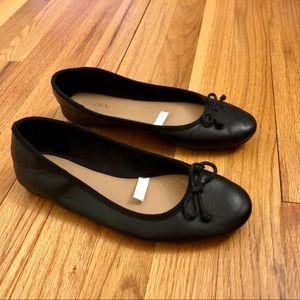 Merona ballet flats (black vegan leather)
